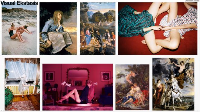 """Der Tumblr """"Visual Ekstasis"""" kombiniert Werke der Kunstgeschichte mit Bildern aus der Mode und dem Internet"""