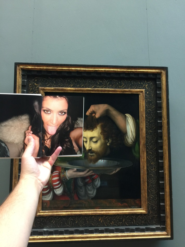 Salome with the Head of Saint John the Baptist. Andrea Solario. c1500. Gallery 608 / Selfish. Kim Kardashian. c2006. p14-15