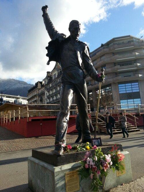 Irena Sedlecká, Freddie-Mercury-Statue, Montreux, 1996.