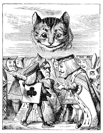 Die Grinsekatze in der Originalillustration von John Tenniels.