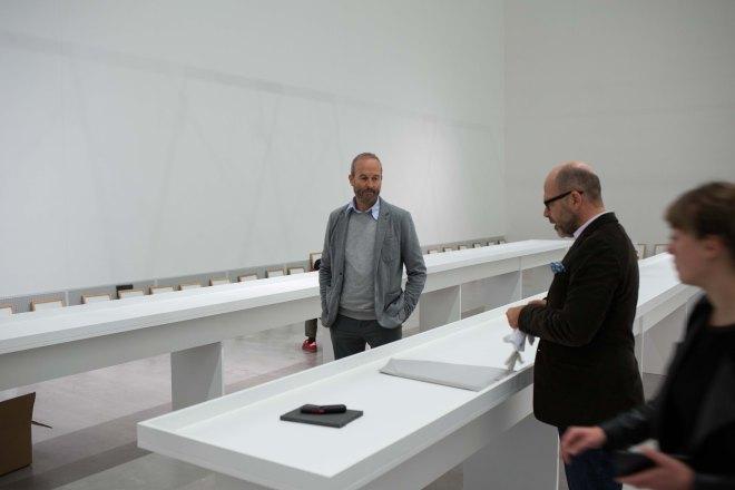 Erwin Wurm beim Blogger-Meet-Up in der Berlinischen Galerie.
