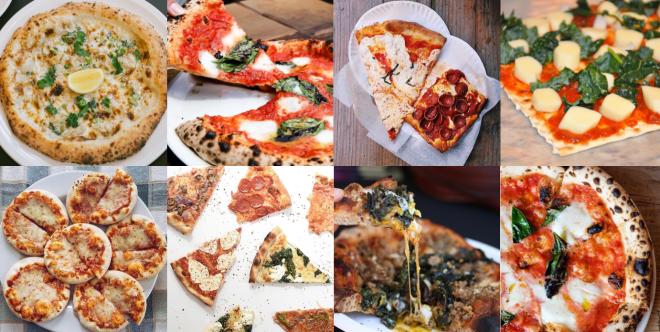 Pizza im Quadrat: Die sterile Welt von Instagram macht selbst aus einer fettigen Pizza ein luftig-leichtes High-Darb-Diät-Produkt.