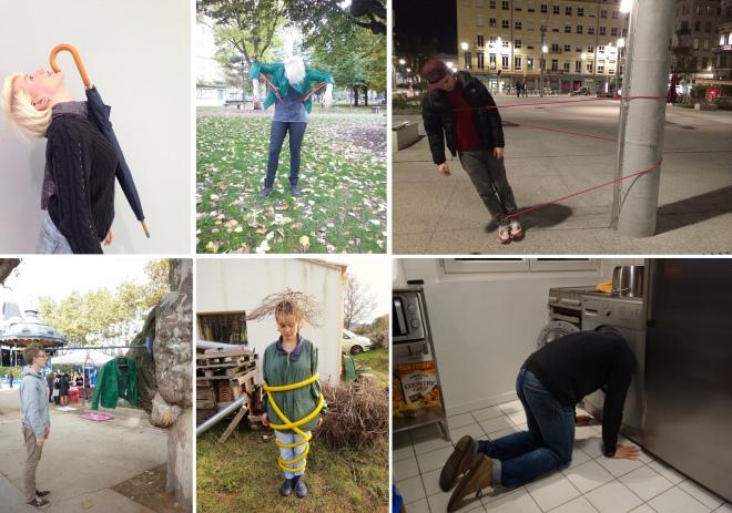 """Bilder von Inszenierungen auf Tumblr, die mit """"One-Minute-Sculpture"""" verschlagwortet wurden."""