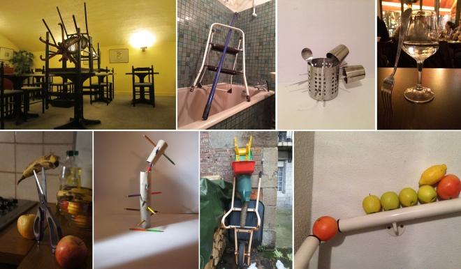 """Stillleben und vorgefundene Arrangements, die auf Tumblr als """"One-Minute-Sculptures"""" bezeichnet werden."""