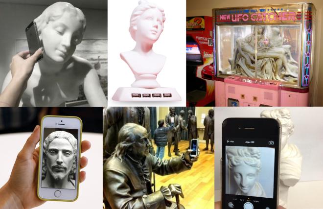 Die Konfrontation antiker Skulpturen mit neuen Technologien in den sozialen Netzwerken