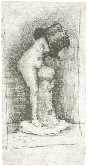 Vincent von Gogh: Venus in einem Zylinder, 1886