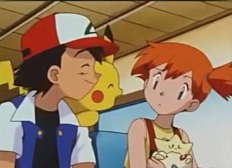 Diesen Anblick konnte ich nur schwer ertragen: Ash und Misty.