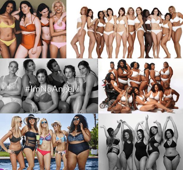 """In Gruppenbildern wird demonstriert: Jeder Körper ist """"normal""""."""